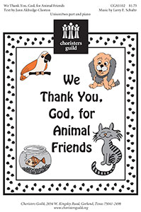 We Thank You, God, for Animal Friends